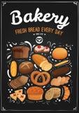 Bakery Chalkboard Illustration Stock Photos