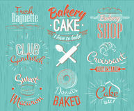 Bakery characters retro Royalty Free Stock Images