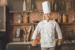 Bakery chef cooking bake in the kitchen Royalty Free Stock Images
