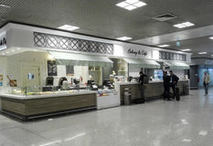 Bakery and Coffee bar. At Rome international airport Stock Image
