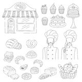 Bakery collection, hand drawn doodle style vector illustration vector illustration