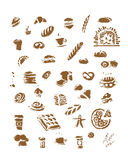 Bakery collection, sketch for your design Royalty Free Stock Image