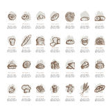 Bakery collection, sketch for your design Royalty Free Stock Images