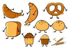 Bakery colored set. Vector illustration stock illustration