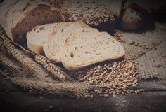 Bakery concept. Plenty of sliced bread background Royalty Free Stock Photography