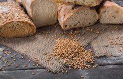 Bakery concept. Plenty of sliced bread background. Plenty of sliced bread background. Bakery and grocery concept. Fresh, healthy whole grain sliced sorts of rye stock photo