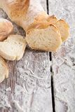 Bakery concept. Plenty of sliced white bread background. Sliced white bread, bakery background on rustic wood, vertical, closeup, copy space stock photo