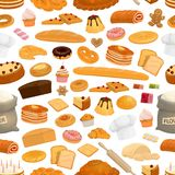 Bakery, confectionery sweets seamless pattern vector illustration