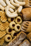 Bakery and cookies. Fresh bakery and cookies on the table royalty free stock image