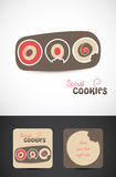 Bakery Cookies Logo Designs. Set of illustrations for a Cookie Bakery business card, letterhead, web icon or logo Royalty Free Stock Photo