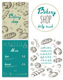 Bakery corporate identity. Bakery shop. set Stock Photos