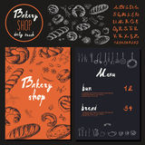 Bakery corporate identity. Bakery shop. set Stock Image
