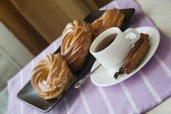 Bakery: cream puffs Stock Photos