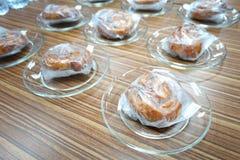 Bakery cupcake. In plastic box food Stock Image