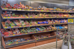 Bakery department in a supermarket Royalty Free Stock Photo