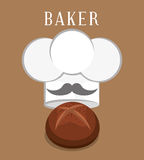 Bakery design Stock Images