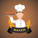 Bakery design Royalty Free Stock Photo