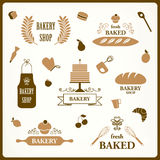 Bakery Design Elements Stock Photos