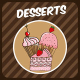 Bakery design Royalty Free Stock Photos