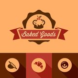 flat bakery design elements Stock Photography