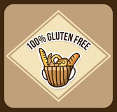 Bakery design. Over brown background vector illustration Stock Images