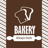 Bakery design over brown background vector illustration Royalty Free Stock Image