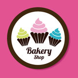 Bakery design. Over pink background, vector illustration royalty free illustration