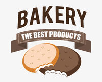 Bakery design over white background vector illustration Royalty Free Stock Photos
