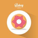 Bakery dessert cherry donut always fresh Royalty Free Stock Images