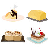Bakery and dessert vector set Stock Photography