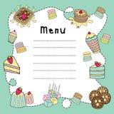 Bakery doodle menu board Royalty Free Stock Photography