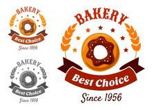 Bakery emblem with cookie Royalty Free Stock Images