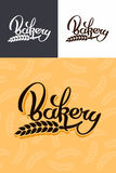 Bakery emblem. Hand drawn calligraphy lettering bakery logo Royalty Free Stock Photography