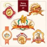Bakery emblems set Stock Photo