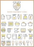 Bakery equipment icons set  Royalty Free Stock Image