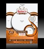 Bakery Flyer Design Stock Image