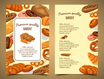 Banner with bakery food or pastry banner Royalty Free Stock Photography