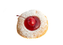 Bakery food, cherry fruit donut isolated Royalty Free Stock Photo