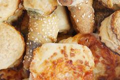 Bakery food. A close up photo of a variety of delicious bakery foodstuff Royalty Free Stock Image