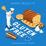 Bakery 02 Food Isometric Royalty Free Stock Images