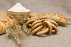 Bakery foods Stock Image