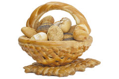 Bakery foodstuff. Lying in a pastry in a baked basket Royalty Free Stock Images