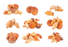 Bakery foodstuffs set royalty free stock image