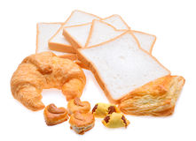 Bakery foodstuffs set Stock Images