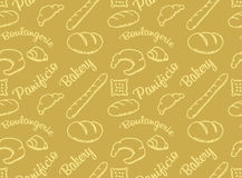 Bakery golden  pattern Stock Image