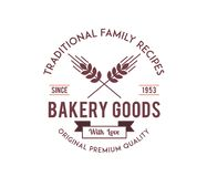 Bakery goods family recipes. Is a illustration about food vector illustration