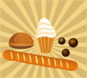 Bakery goods illustration Royalty Free Stock Photos
