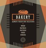 Bakery goods menu design template Royalty Free Stock Image