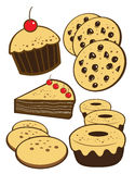 Bakery. Group product element set Royalty Free Stock Photography