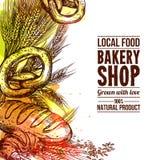 Bakery Hand Drawn Illustration Stock Photography
